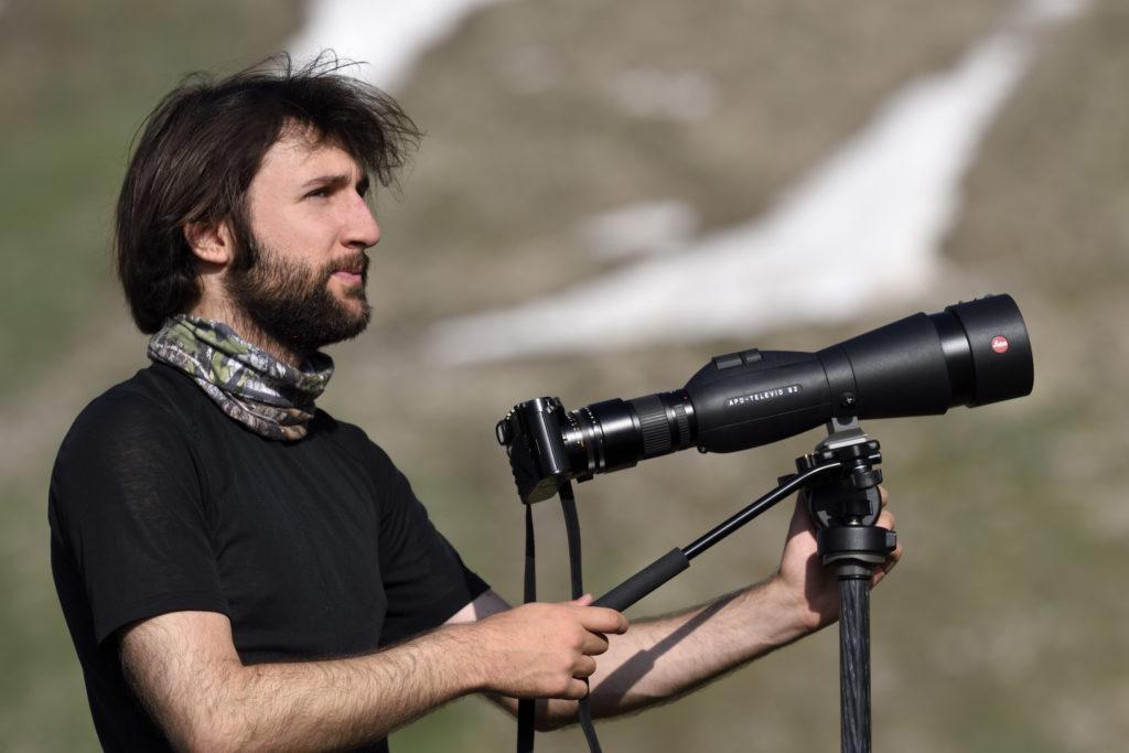 Sistema Digiscoping collegato con  fotocamera Leica Q