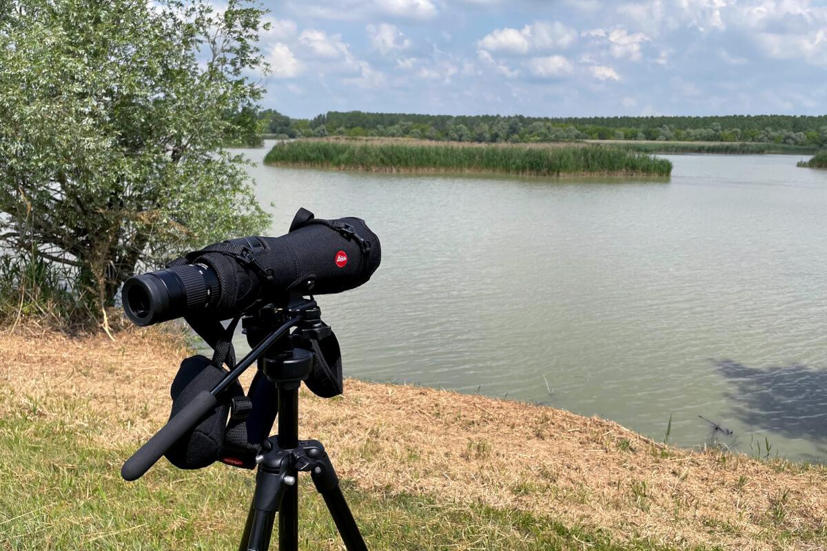 Cannocchiale Apo Televid 82 con oculare 25-50 grandangolare. Strumento utilizzato per l'osservazione a lunga distanza  durante l'escursione nel Parco del Delta del Po. Foto di Luca Giordano Leica Natura
